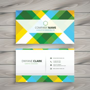 abstract patten business card