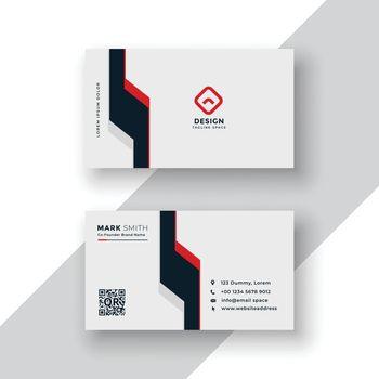 minimal geometric business card design
