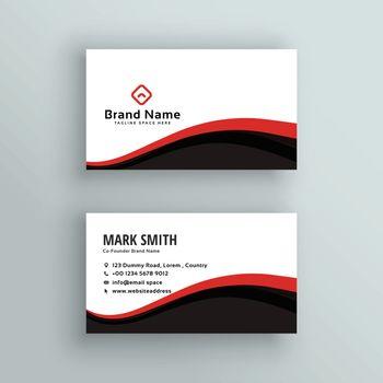 modern wavy business card design