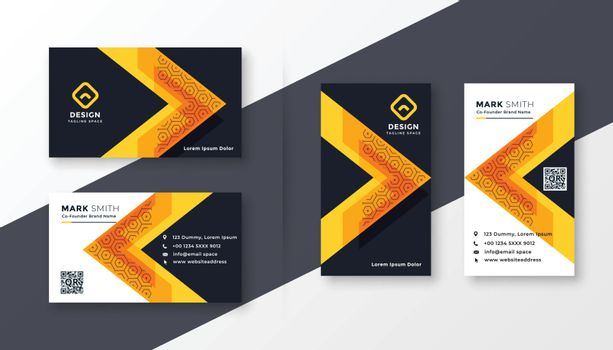 stylish company business card design