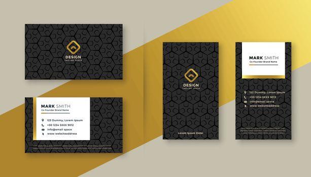 set of premium business card design