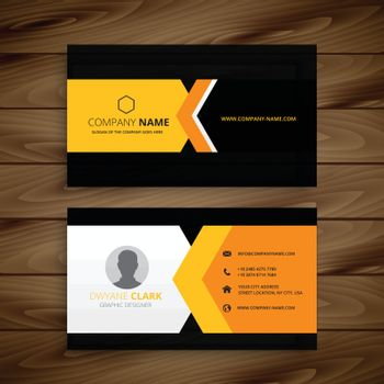 yellow black business card