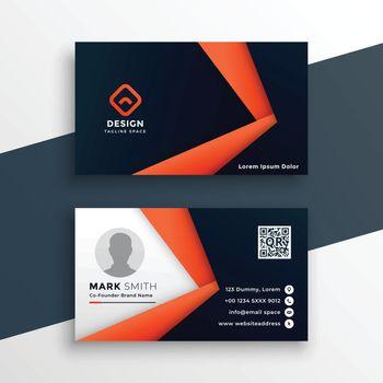 professional geometric business card mockup design template