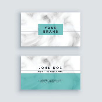 minimal marble business card design