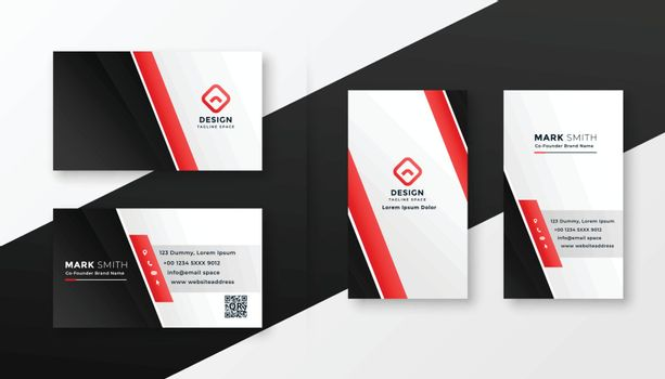 professional red business card design