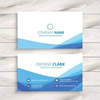 abstract wave business card