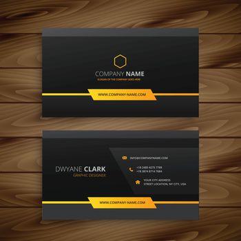 dark black business card
