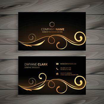 premium floral business card