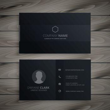 pure black dark business card