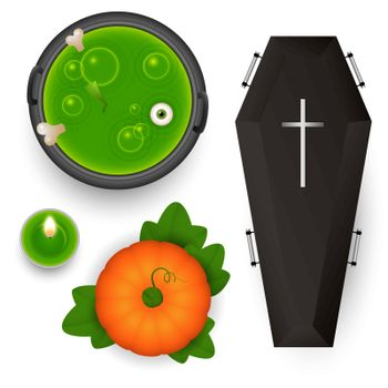 Spooky design elements for Halloween