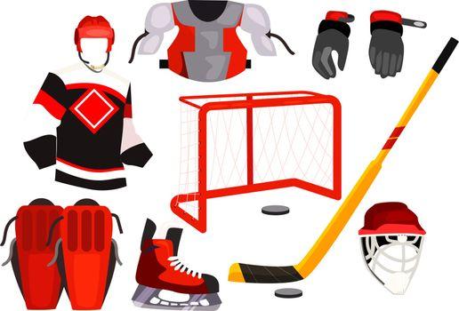 Hockey equipment icons