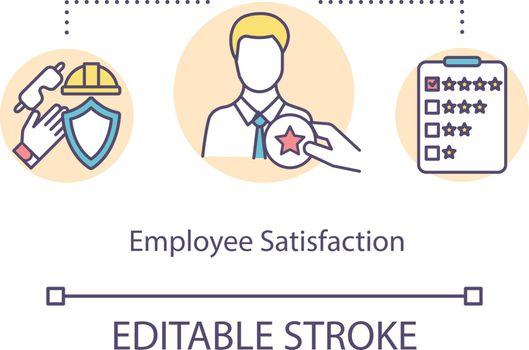 Employee satisfaction concept icon