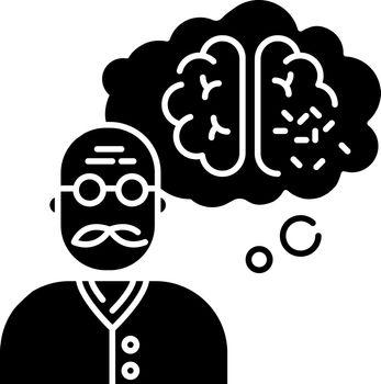Dementia black glyph icon