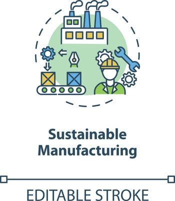 Sustainable manufacturing concept icon