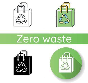 Reusable grocery bag icon