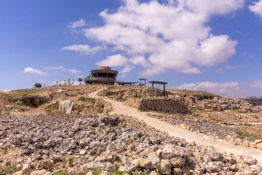 Excavations in archaeology park of Samaria settlement