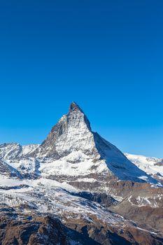 Stunning close up view of the famous Matterhorn