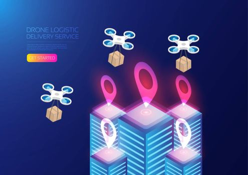 Isometric aerial transportation, online delivery service
