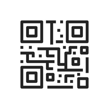 QR code icon, isolated on white background