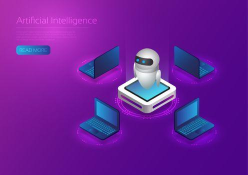 Ai technology isometric
