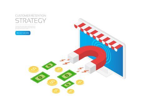 Online store customer retention strategy, online marketing