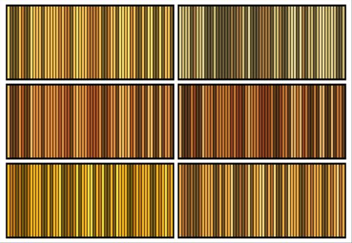 Vertical bars backdrops set. Yellow abstract striped wallpaper. Classic lined illustration for poster template. Vector file of straight stripes backgrounds collection. Abstract background with stripes