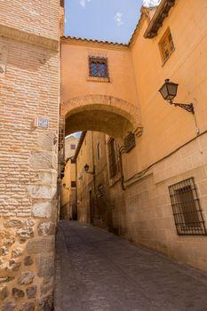Toledo Angel street arch in Castile La Mancha of Spain