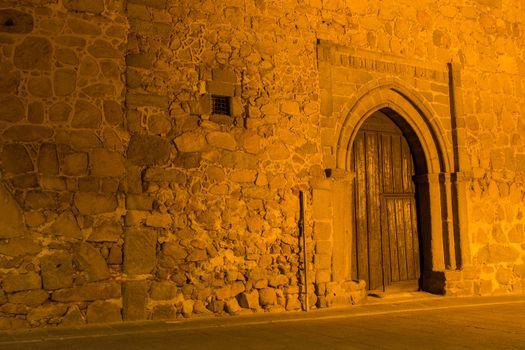 Avila streets at night, Castile and Leon, Spain