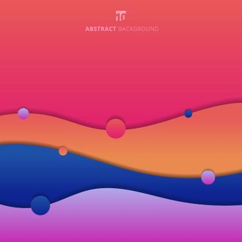 Abstract background trendy fluid shape colorful gradient modern concept. Creative geometric wallpaper. banner web, poster, brochure, etc. Vector illustration