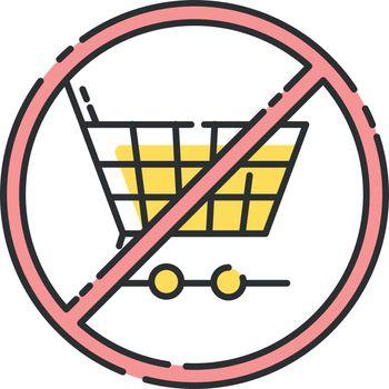 Anti consumerism RGB color icon