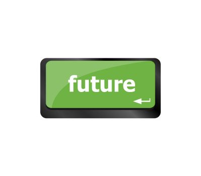 The word Future written on the keyboard button