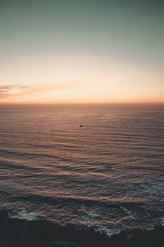 Deep horizon with colorful violet tones