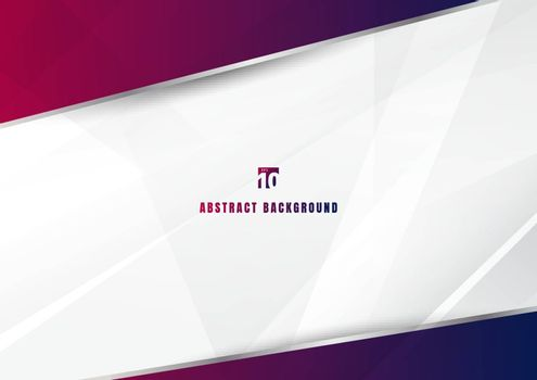 Abstract template blue and pink diagonal overlapping layers background with with silver line decoration on white background. technology futuristic concept. You can use for brochure cover design, banner web, print ad, presentation, etc. Vector illustration