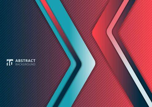 Abstract modern gradient vibrant color triangle geometric overla