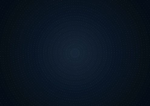 Abstract technology futuristic concept glowing particles dots elements on dark blue background. Big data. Vector illustration