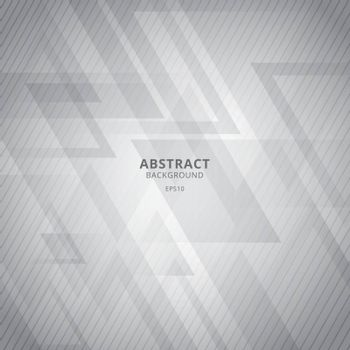 Abstract white and gray geometric triangles overlap background w