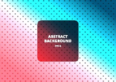 Abstract square pattern diagonal on blue and pink gradient color background texture. Vector illustration