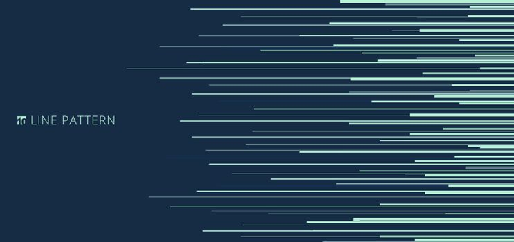 Abstract light green horizontal speed lines pattern on blue background and texture. Vector illustration