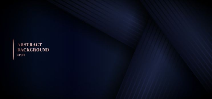 Abstract 3D blue paper overlap layer on dark background