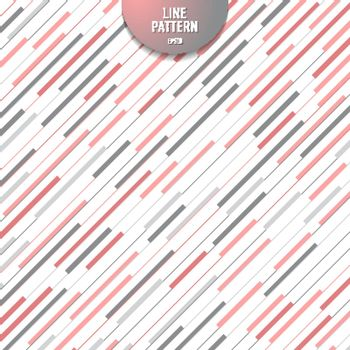 Abstract stripe pink and gray diagonal lines pattern on white background. Modern random line backdrop. Vector illustration