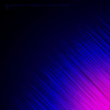 Abstract diagonal lines on blue and pink background technology futuristic concept. Vector illustration