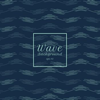 Abstract blue water wave line pattern background. Vector illustration