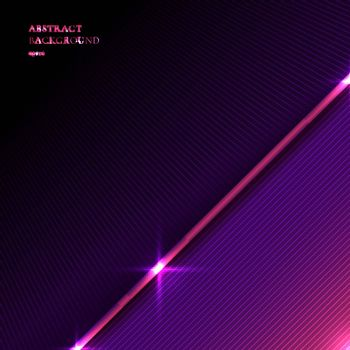 Abstract background striped purple and pink triangle with diagonal line and lighting effect texture space for your text. Vector illustration
