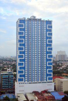 Princeton residences condominium facade in Quezon City, Philippi