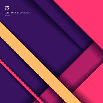 Abstract Background Geometric Stripes Vibrant Color Overlapping Layer with Shadow and Space for Your Text. Vector Illustration