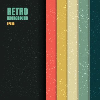 Abstract Background Pattern Stripe Vertical Vintage Retro Color Style on Black Background with Space for Your Text. Vector Illustration