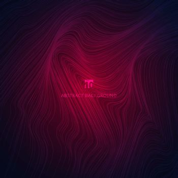 Abstract wave or wavy lines texture pink gradient background. Vector illustration