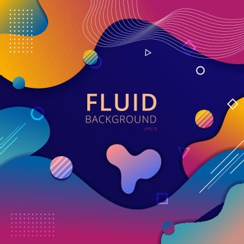 Abstract background fluid shape vibrant gradient color with geom