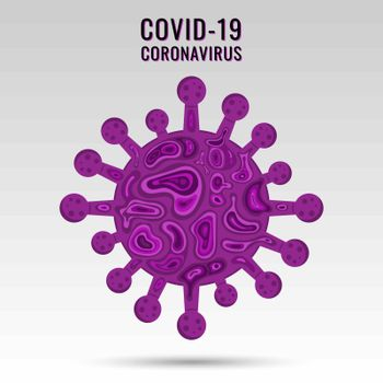 Coronavirus COVID-19 virus symbol and icon. China pathogen respiratory influenza covid virus cells. vector illustration