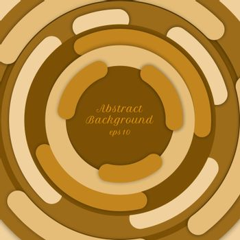 Abstract background yellow circle border overlapping layered wit